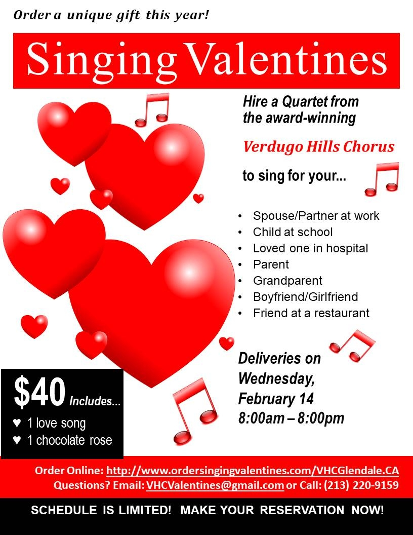 singing valentines feb 14 2018